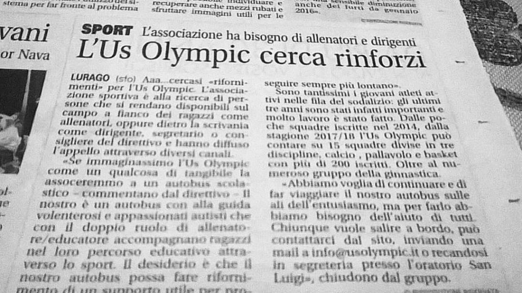 US olympic cerca rinforzi